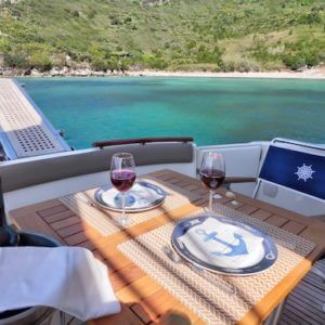 Half-Day Elaphiti Islands Tour from dubrovnik - prestige 440 yacht