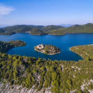 Island Mljet Yacht Tour - ariel view on island Mljet